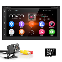 Free Camera 2Din 7″ Android 5.1 Capacitive Touch Screen Quad Core Car DVD Player GPS Navigation Bluetooth WIFI SD/USB/FM/AM DAB+