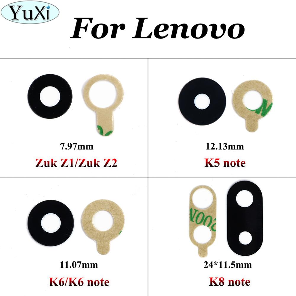 YuXi For Lenovo K8 Note / K6 Note / K6 / K5 Note / Zuk Z1 / Zuk Z2 Repairs Back Rear Camera Glass Len Cover With Glue Adhesive
