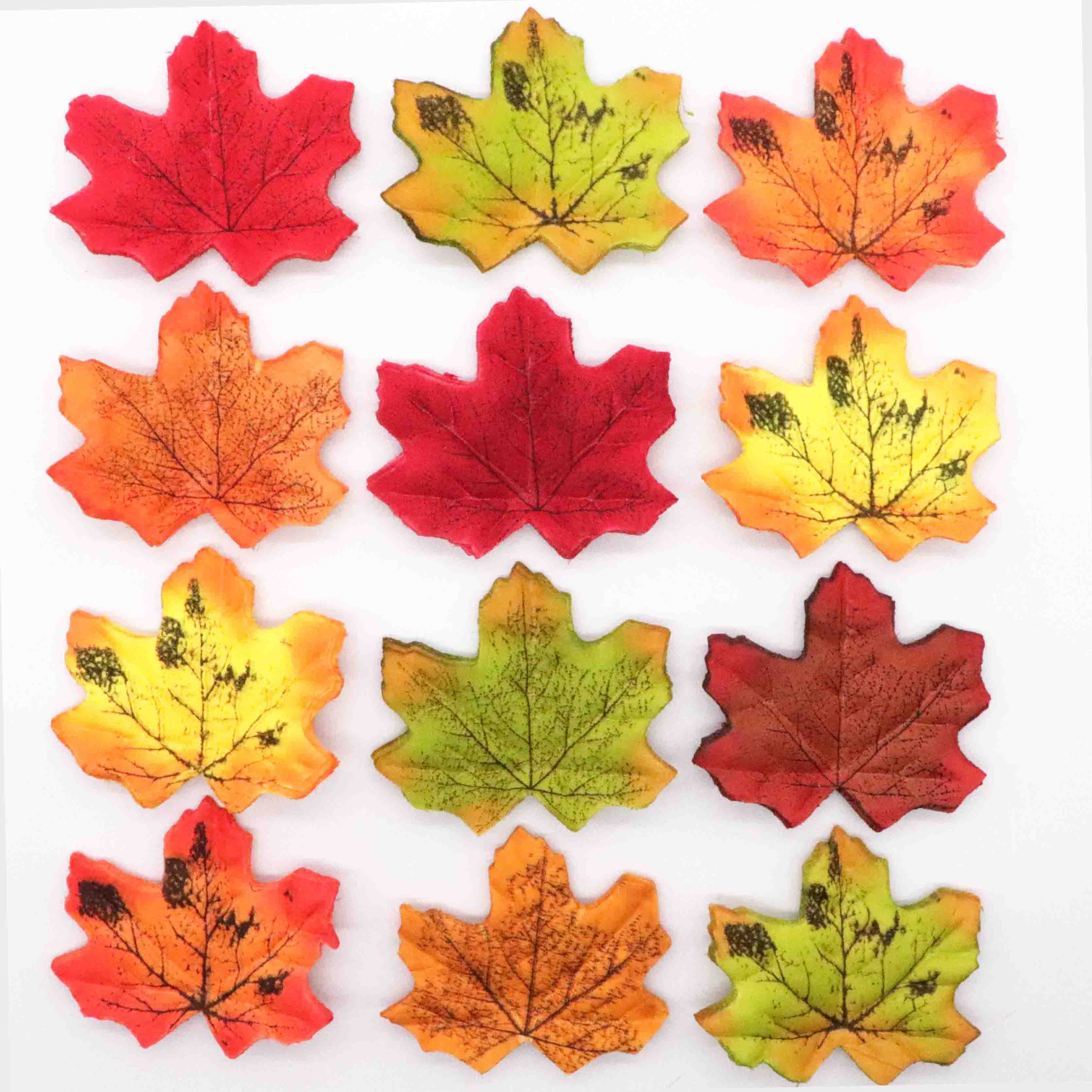 200pcs Assorted Autumn Maple Leaves Fall Leaf Wedding Home Garden Decoration
