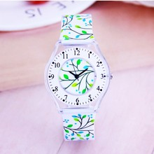 Fashion Simple pattern Boys Girls Sports Watch Waterproof Silicone Stud