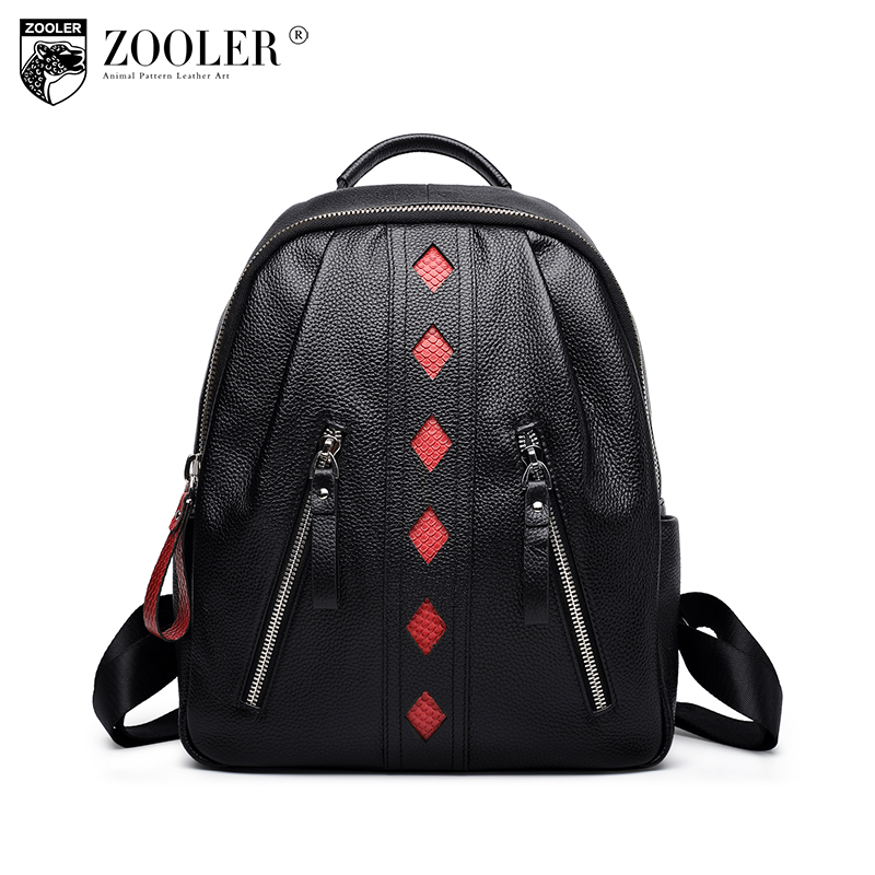 ZOOLER Fashion Women Backpack High Quality  Leather Backpacks for Teenage Girls Female School Shoulder Bag Bagpack mochila D118 aequeen fashion leather backpack women shoulder backpacks school bag for teenage girls high quality new travel bag female