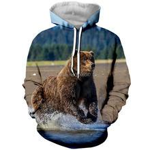 Bear hoodie JoJoesArt 3D mens womens sweatshirt fashion Sweatshirt autumn sportswear Harajuku casual animal