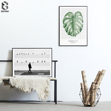 Fresh Green Plant Leaf Wall Art Canvas Posters Nordic Art Prints Painting Monochrome Wall Picture for Living Room Home Decor nordic bird canvas art prints and posters monochrome canvas painting wall art picture for living room home decor