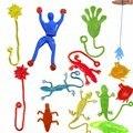 1 peça 9 cm * 3 cm de Sílica gel robô Escalada do Homem-Aranha pegajosa Spiderma Superman Escalada em vidro para crianças fuuny brinquedo do menino 7 cores