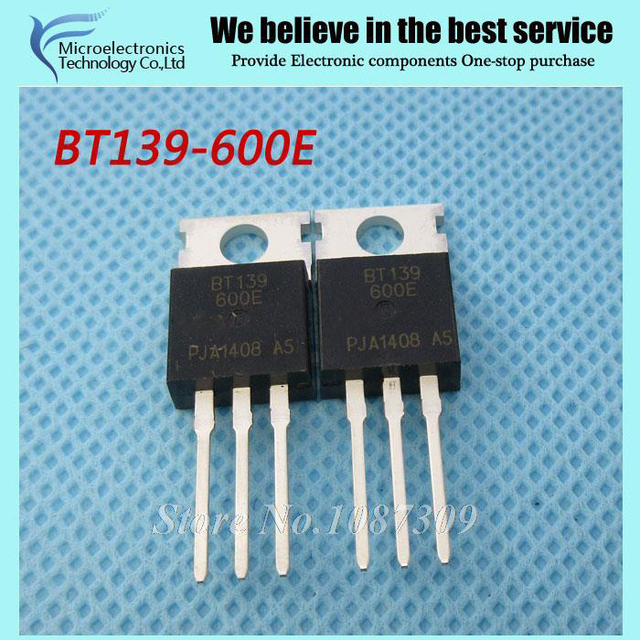 10pcs free shipping BT139-600E BT139 BT139-600  600V 18A Triacs RAIL TRIAC TO-220  new original
