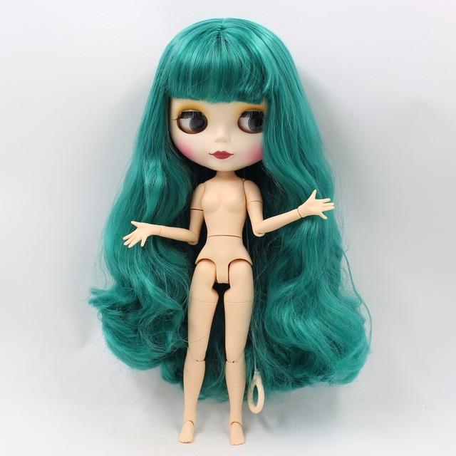 TBL Neo Blythe Doll Gréng gewellt Hoer Jointed Body