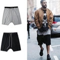 Urbana roupas kanye west streetwear hiphop justin bieber cruz pant para shorts homens