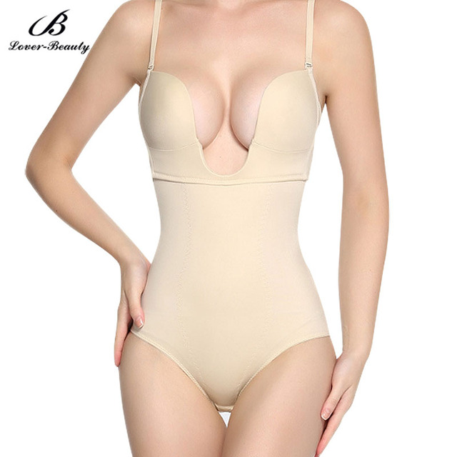 781a61568f Lover Beauty Women s Seamless Firm Control Shapewear U Plunge Body Suit  Bikini Backless Thong Bottom Slimming Body Shaper FajasA