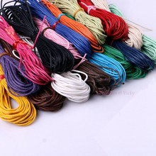 10 meters 1.5MM Waxed Leather Thread Wax Cotton Cord String Strap Necklace Rope Bead For shamballa Bracelet 17 Colors Choice