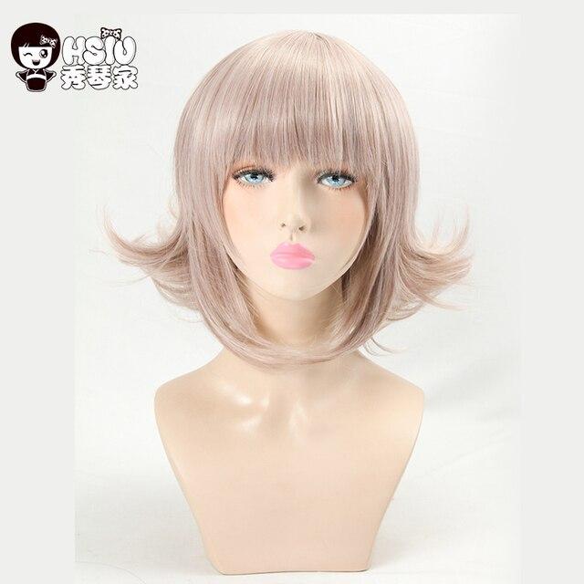 HSIU Super DanganRonpa Cosplay Wig Chiaki Nanami Costume Play Woman Adult Wigs  Halloween Anime Game Hair
