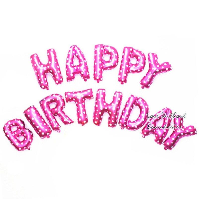 65pcs/lots Letter Happy Birthday BALLOON Aluminum Foil Balloon Baby Birthday Par