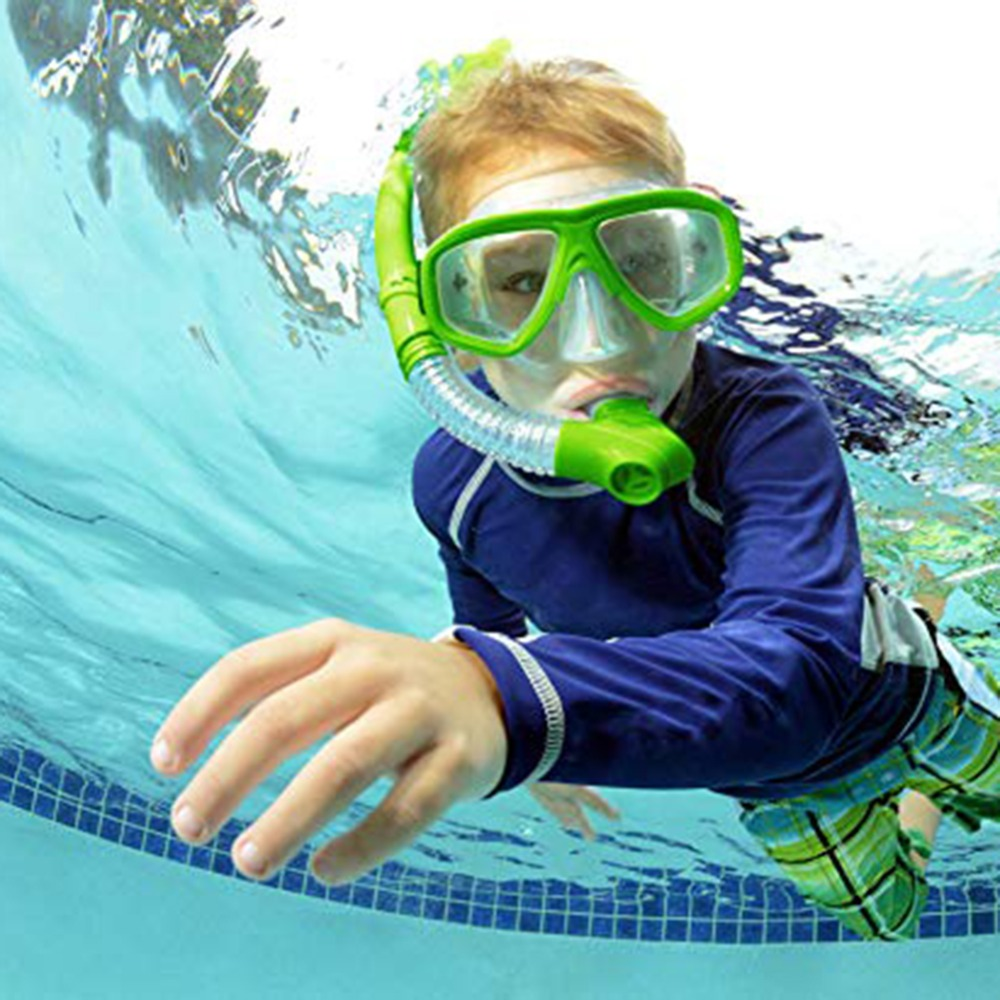 Kids New Diving Goggle Mask Breathing Tube Shockproof Anti fog Swimming Glasses Band Snorkeling Underwater Accessories