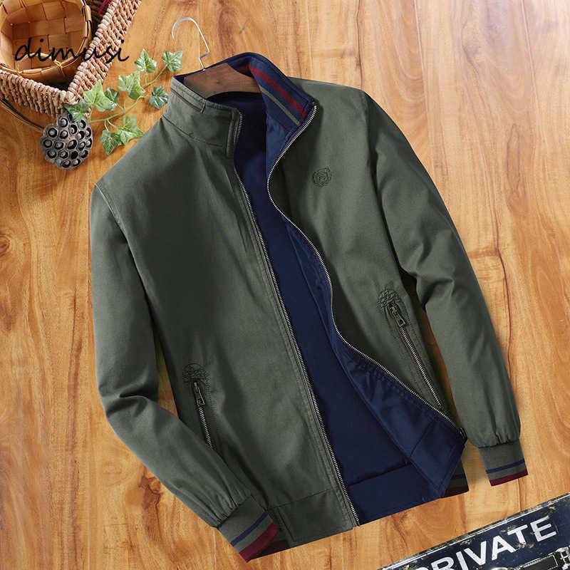 Весенний dimusi осень Для мужчин бомбардировщик куртки Повседневное мужской верхней одежды ветровка со стоячим воротником Куртка с воротником Для мужчин s Бейсбол тонкий пальто 5XL, YA810