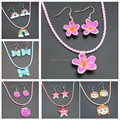 Wholesale 12 sets Girls' Lovely Fimo Polymer Clay Necklace & Earrings Children/Kids Jewelry Set Gift TZ13