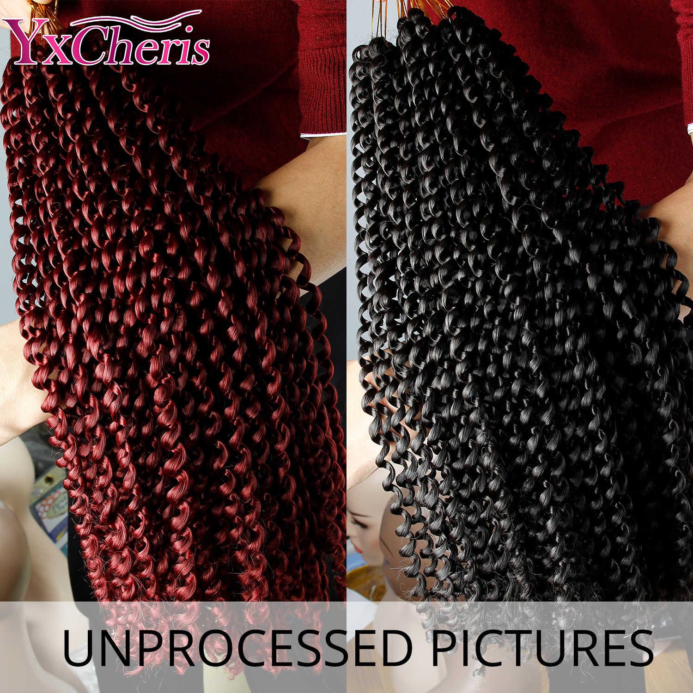 18 дюймов, вязанные крючком волосы для плетения, синтетические волосы для наращивания, Sensationnel, Lulutress, длинные богемные кудрявые вязанные волосы, твист