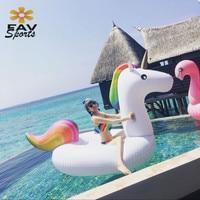FAVSPORTS Hot Summer Beach Water Pool Fun Tube Raft Toys Unisex 78'' Giant Inflatable Swimming Rings Flamingo Pool Raft Float