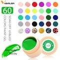 Venalisa Gel UV nuevo 2019 puntas de Arte de uñas diseño manicura 60 colores UV LED remojo de pintura DIY Gel tinta gel UV pulidor de uñas laca