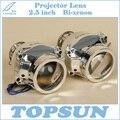 Envío Libre Luz Del Coche Piezas Stanley HID Lente Del Proyector Bifocal 2.5 pulgadas, apto para lámpara de Xenón D1S D2S D2H H7 H9