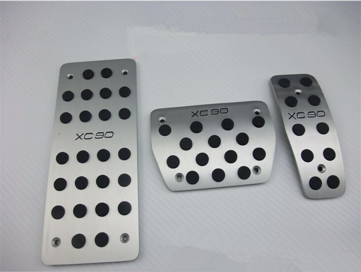 2015 HOT for Volvo xc90 Fuel Brake Foot Rest / aluminum slip pedals Free shipping