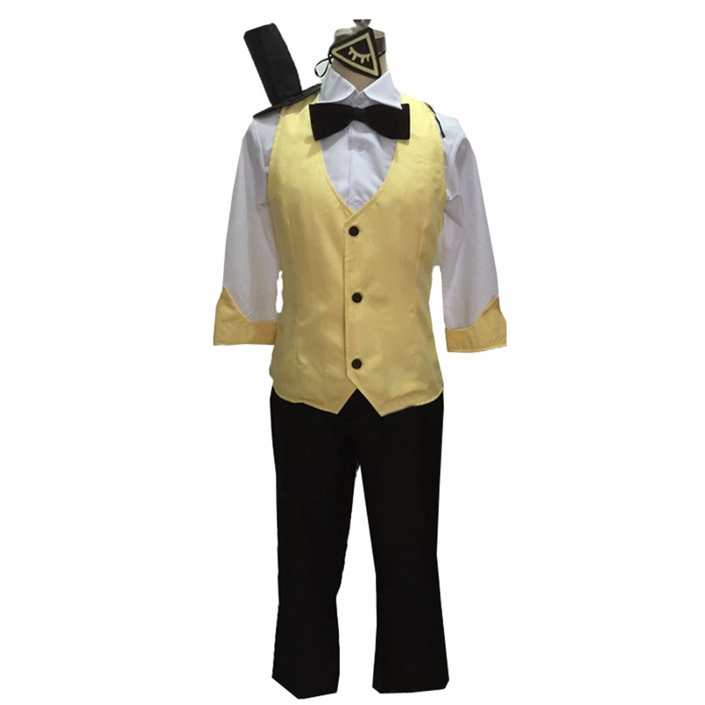 √2018 gravity falls bill cipher cosplay costume mystery attack