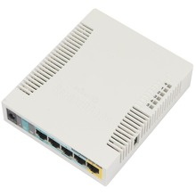MikroTik RB951Ui-2HnD 5-Port Wireless Router 1000mW 300M Wifi RouterOS 2*2 MIMO 2.5dbi WI-FI 1*POE In,  5*POE Out