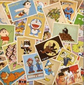 Image 2 - 7packs/lot visitenkarten Freies verschiffen! DIY alten speicher cartoon comic post karte set 32 blatt karten pro set gruß karte