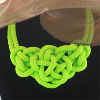 New Arrival 2013 Neon Color Cord Weave Statement Choker Necklace Wholesale And Retail Free Shipping