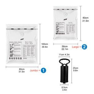 Image 2 - Вакуумный мешок для одежды с насосом, органайзер для шкафа, сумка для хранения багажа, пластиковая компрессионная сумка для экономии места