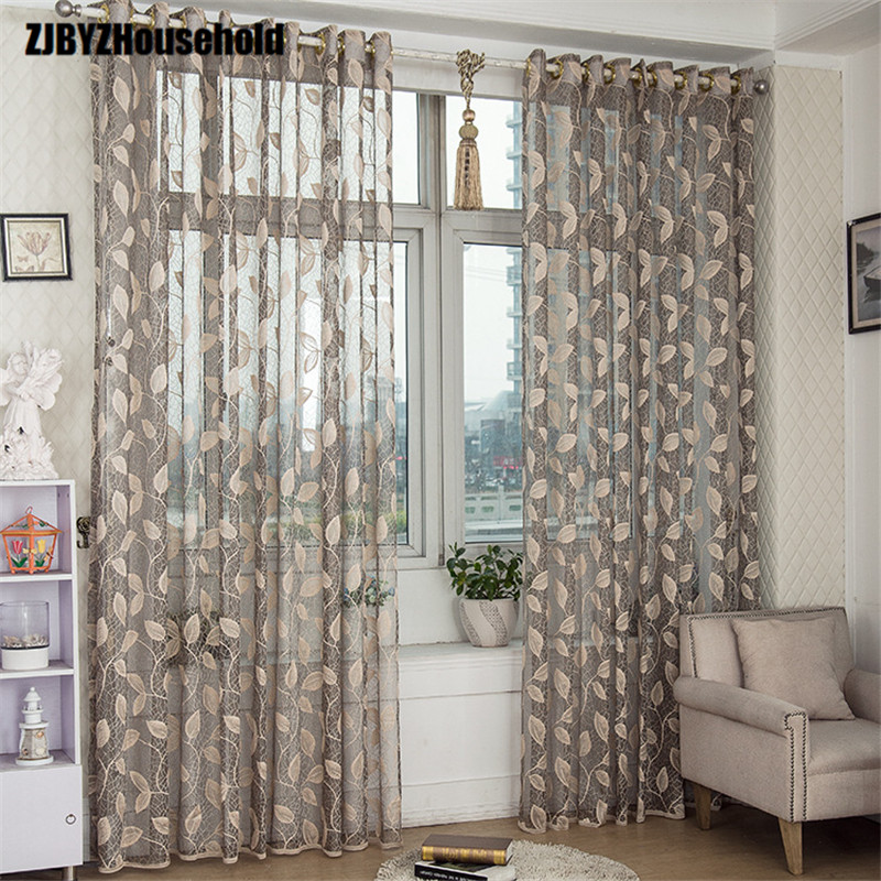 The Leaves Are Light and Permeable, Half Shade, Balcony, Living Room Bedroom Curtain, Window Screening