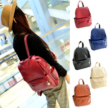 New Fashion Student Backpack Crown Printed PU Leather Women Travel Bag