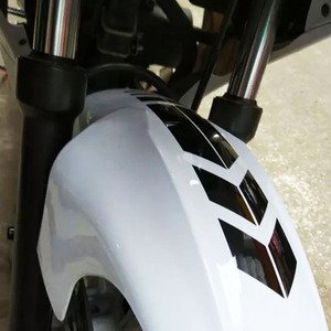 Image 4 - SLIVERYSEA 34x5.5 سنتيمتر سيارة دراجة نارية درابزين JDM ملصقا عاكسة الملصقة pinبها بنفسك مقلمة ملصقات السيارات لياماها هوندا