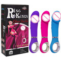 Dildo New Ring Kings 7 Vibrating Modes Dildo Vibrator G Spot Silicone Vibe Sex Toy For Women