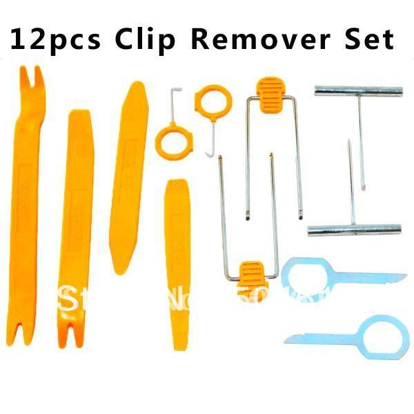 Free shipping YiTao(TM) 12 Pcs Set Car Door Panel Removing Radio Stereo Dash Refitting Dismantle Install Tools Kit for Vehicles