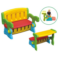 Multifunctional child furniture for Talent Childcare Center,kids plastic storage/chairs/table in one,plastic toys for playground