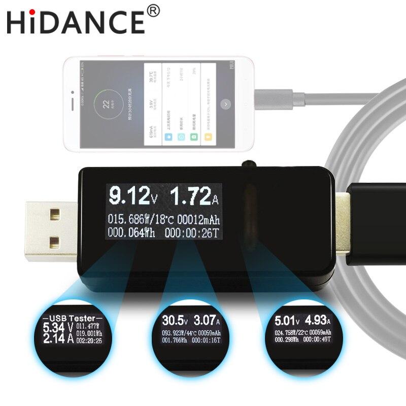 7 en 1 USB amperimetro tester DC voltímetro Digital amperímetro actual del metro del voltaje amp volt detector indicador del cargador banco de la energía