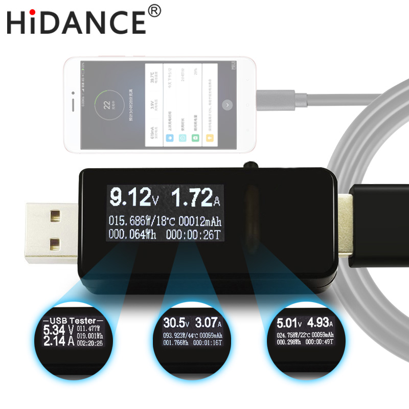 7 in 1 tester USB DC voltmetro amperimetro Digitale tensione meter amp volt amperometro rilevatore di indicatore di banca di potere del caricatore