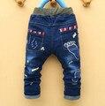 Бесплатная доставка 2016 новые приходят след моды детей мальчик джинсы костюм дети мальчик случайные штаны