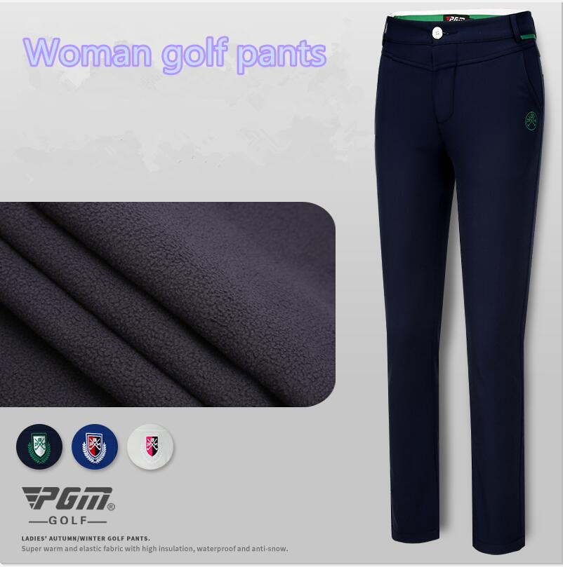 PGM autumn winter ladies golf pants women spring trousers high elasticity sports ball pants fleece warm waterproof golf clothing цена