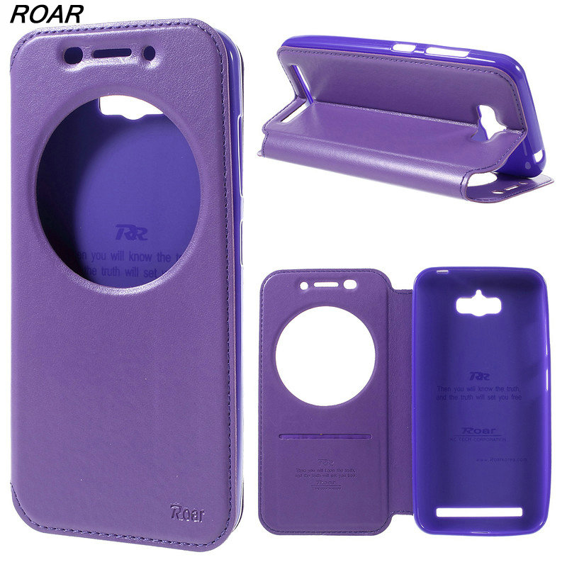 For Asus ZC550KL Cover Original ROAR KOREA Diary View Window Leather Case for Asus Zenfone Max ZC550KL With Package