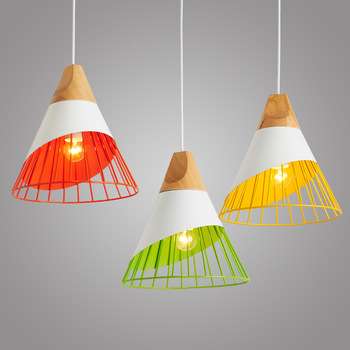 Nordic restaurant Pendant Lights  living room personality barbed wire solid wood Korean dining  Pendant Lights WF4051723