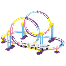 New Assembly of Electric High-speed Rail Vehicle Puzzle Toy Train Children DIY Roller Coaster Compatible Boy Toys