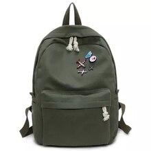 Multi-function Изысканный рюкзак большой емкости модные простая ткань школьные сумки Multi-function чистый цвет повседневные Рюкзаки