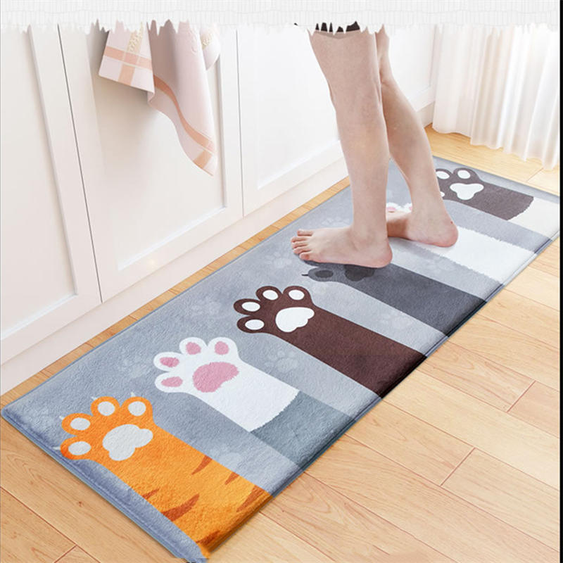 Mat Door Mat Cat Carpet Toilet Tapete Rug Porch Doormat Cat Doormat Floor Anti-slip Water Absorption Carpet Kitchen Accessories ...