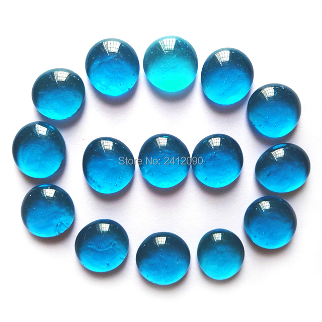 80 Pcs Blue Glass Beads Mixed Color Pebbles Stone For Vase Aquarium
