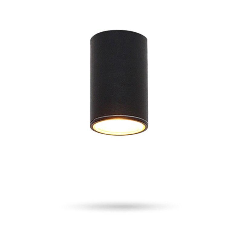 Outdoor Black LED Ceiling Lights Waterproof Gate Kitchen