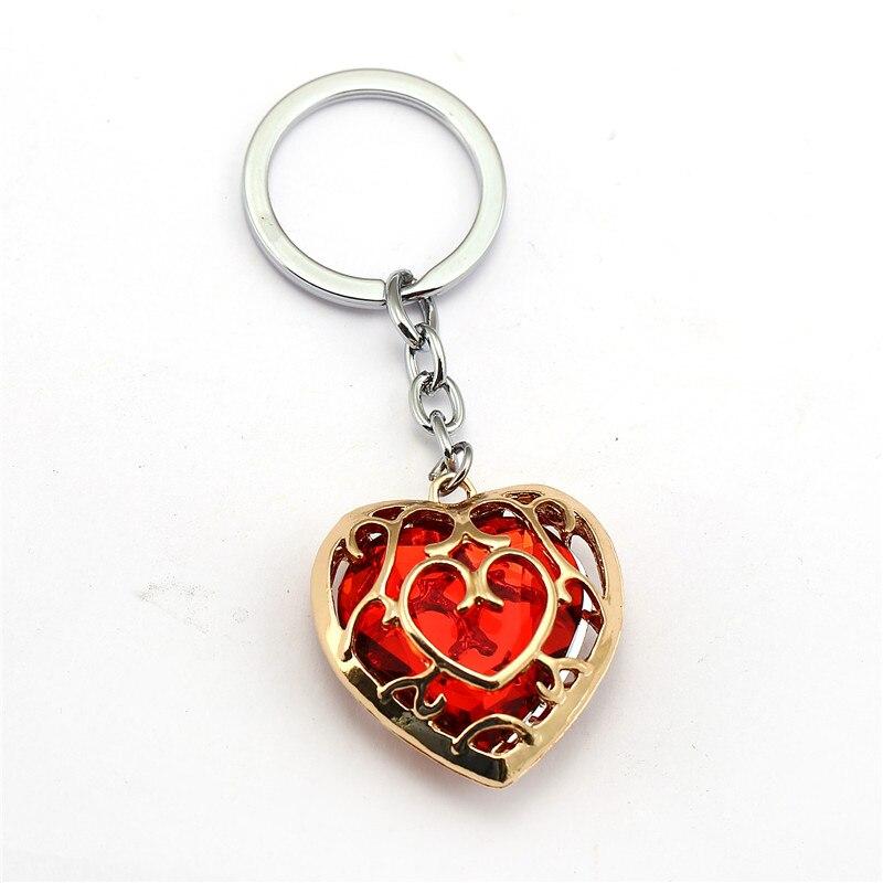 Легенда о Зельде брелок синий красный сердце брелок со стразами держатель модный автомобиль chaviro игра брелок кулон подарок ювелирные изделия - Цвет: hong