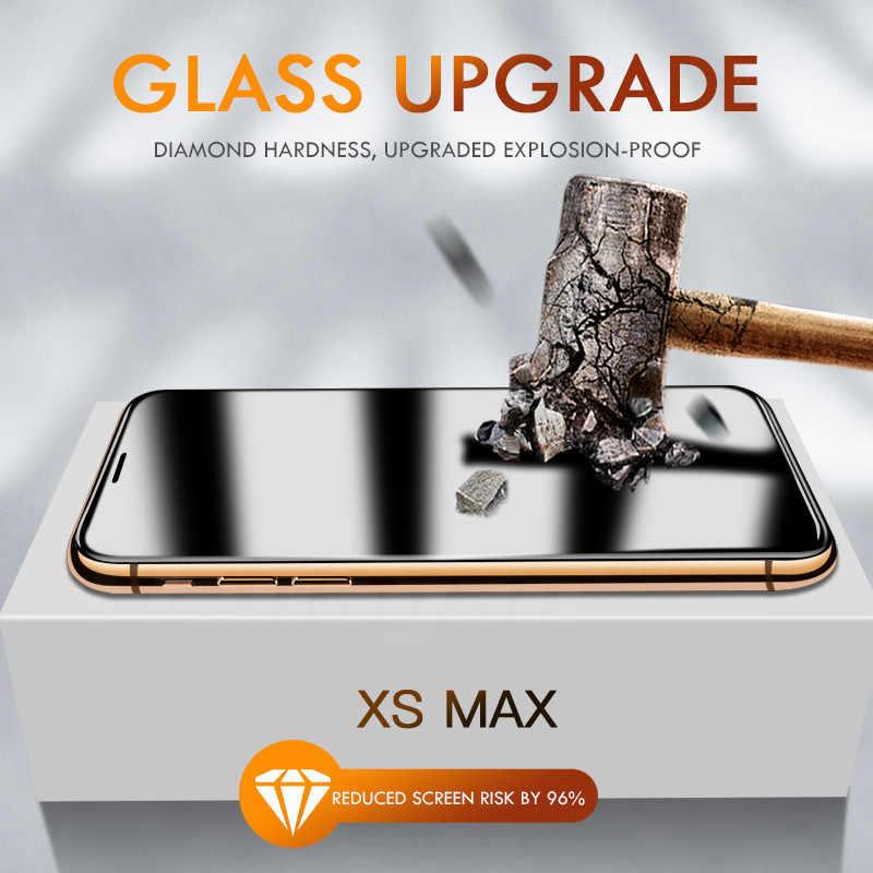 15d proteção de vidro no para iphone 6 6s 7 8 plus xr x xs vidro capa completa iphone 11 pro max protetor de tela vidro temperado