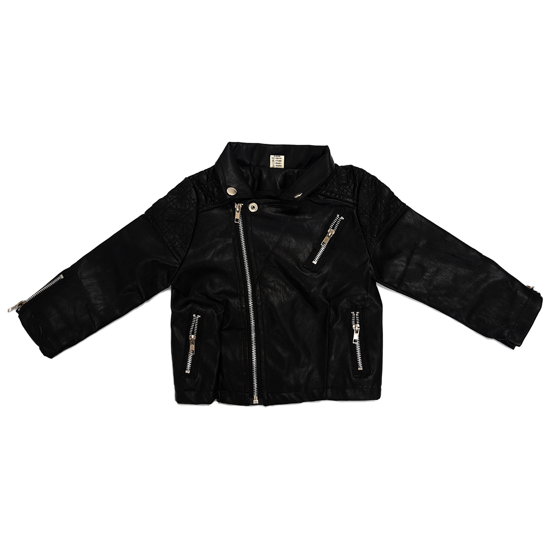 Leather jackets for kids - Autumn Girls Fashion Style Girl Pu Jacket Children Leather Coats For Girl Outerwear Kids Girl Black 7t