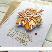 Home Gift Decore Maple Leaf Cover Panel Metal Die Cuts Metal Cutting Dies For DIY Scrapbooking Photo Album Embossing Cards Craft