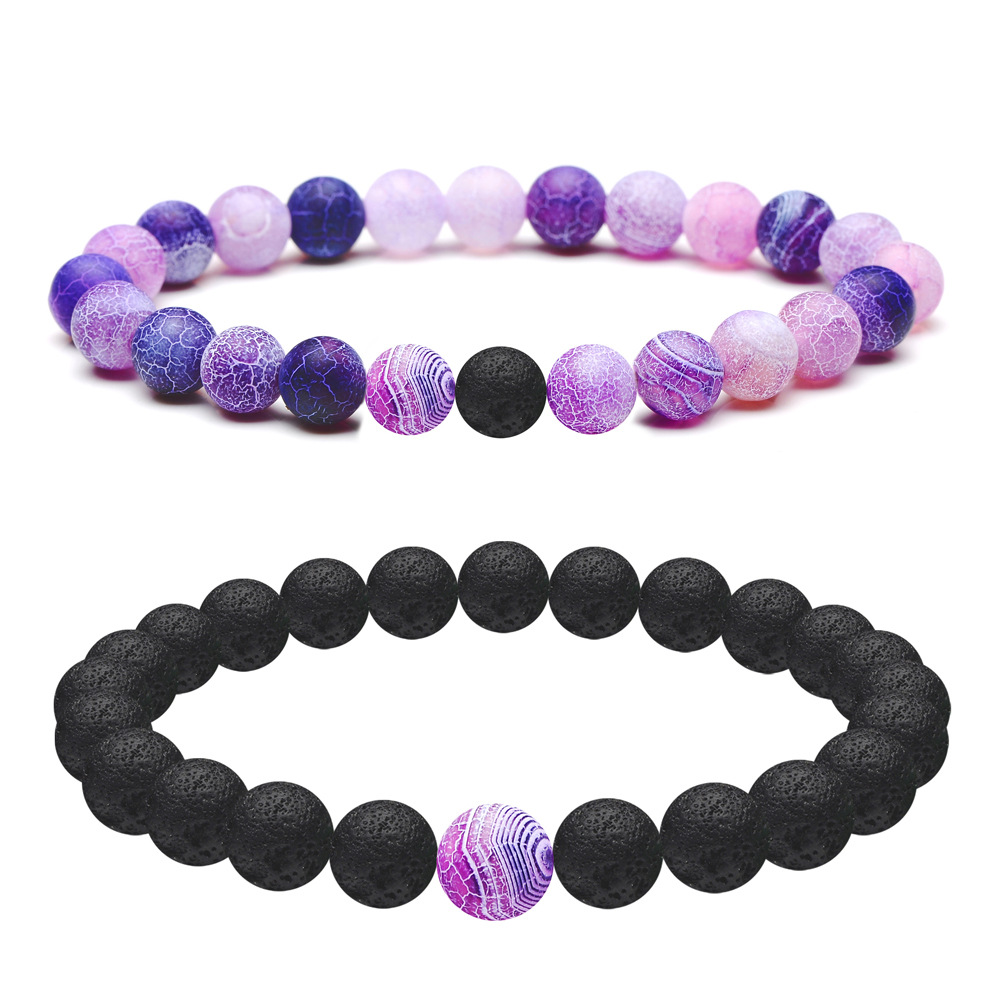 18 Style Natural Weathered Stone Bracelet 8MM Aromatherapy Black Lava Volcanic Rock DIY Essential Oil Diffuser Bracelet Jewelry
